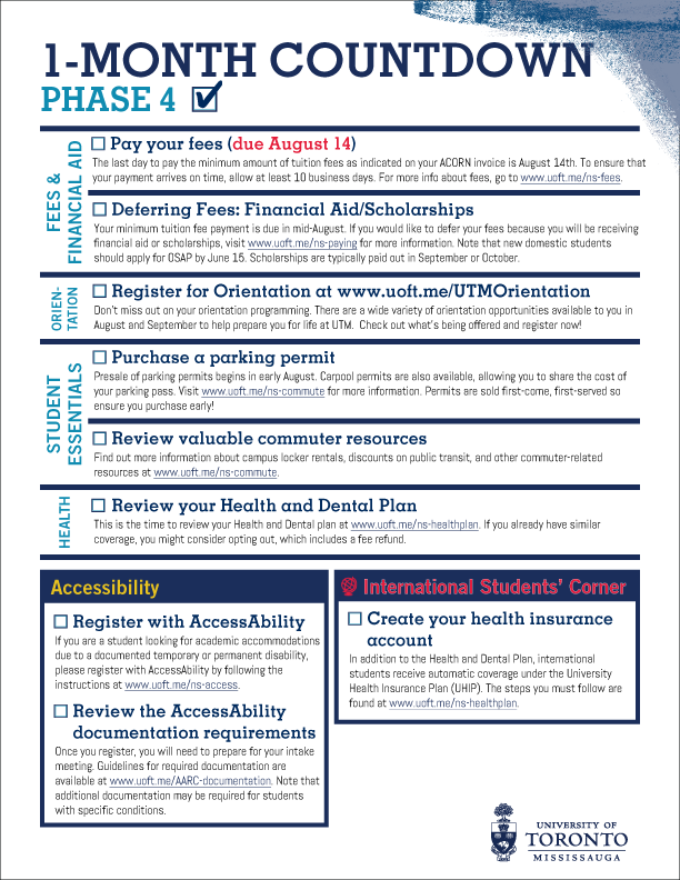 Image of Checklist for Phase 4 - to view whole checklist click on this image.
