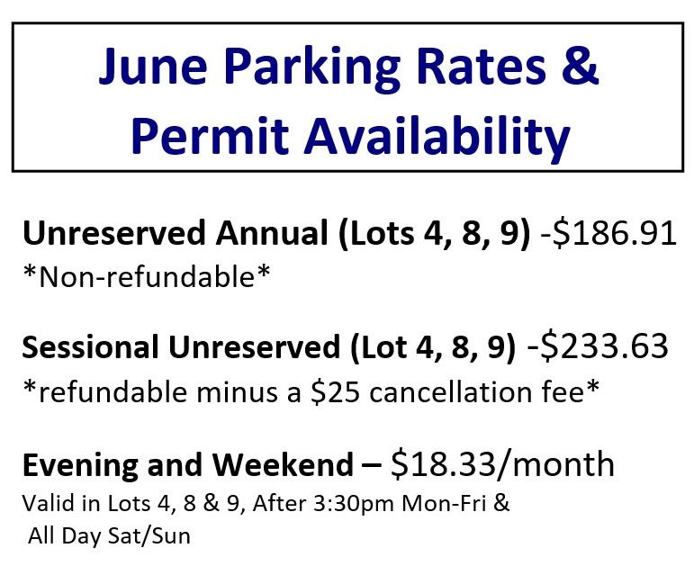 June Parking Permit Rates