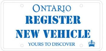 Image of an ontario license plate