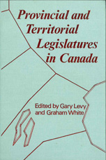 Provincial and Territorial Legislatures in Canada - Graham White