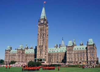 Image of Paliament Buildings in Ottawa