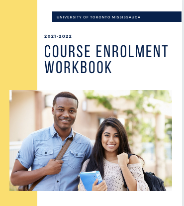 Cover photo for the Course Enrolment Workbook featuring a photo of two students smiling at the camera