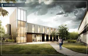 Architectural illustration of new Annex building
