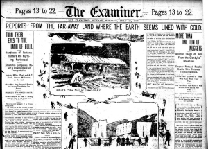 Front page of San Francisco examiner 1897