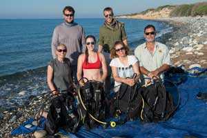 Carrie Fulton with Cyprus dive team