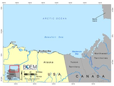 Map of Beaufort Sea area
