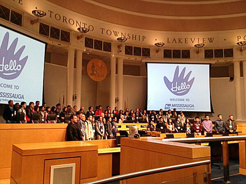 International student welcome at the City of Mississauga Civic Centre