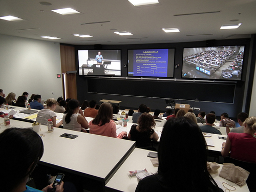 Image of videoconference at Mississauga Academy of Medicine