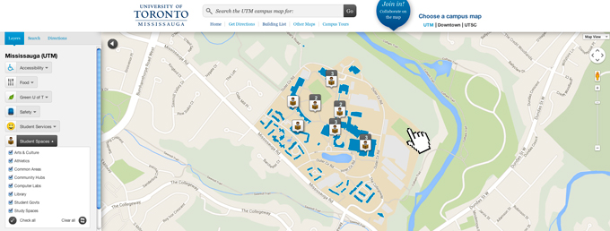Still image of UTM digital map