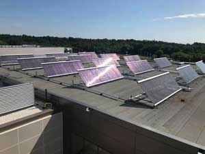 Solar panels on the RAWC roof.