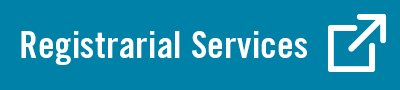 "Blue button with white text reading ""registrarial services"""