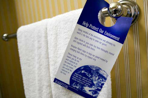 hotel towel reuse card