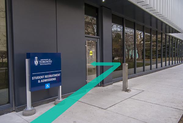 Student Recruitment and Admissions Office entrance