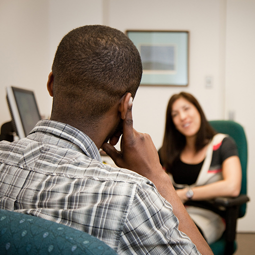 Student receiving counselling