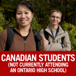 Canadian Students (not currently attending an Ontario high school)