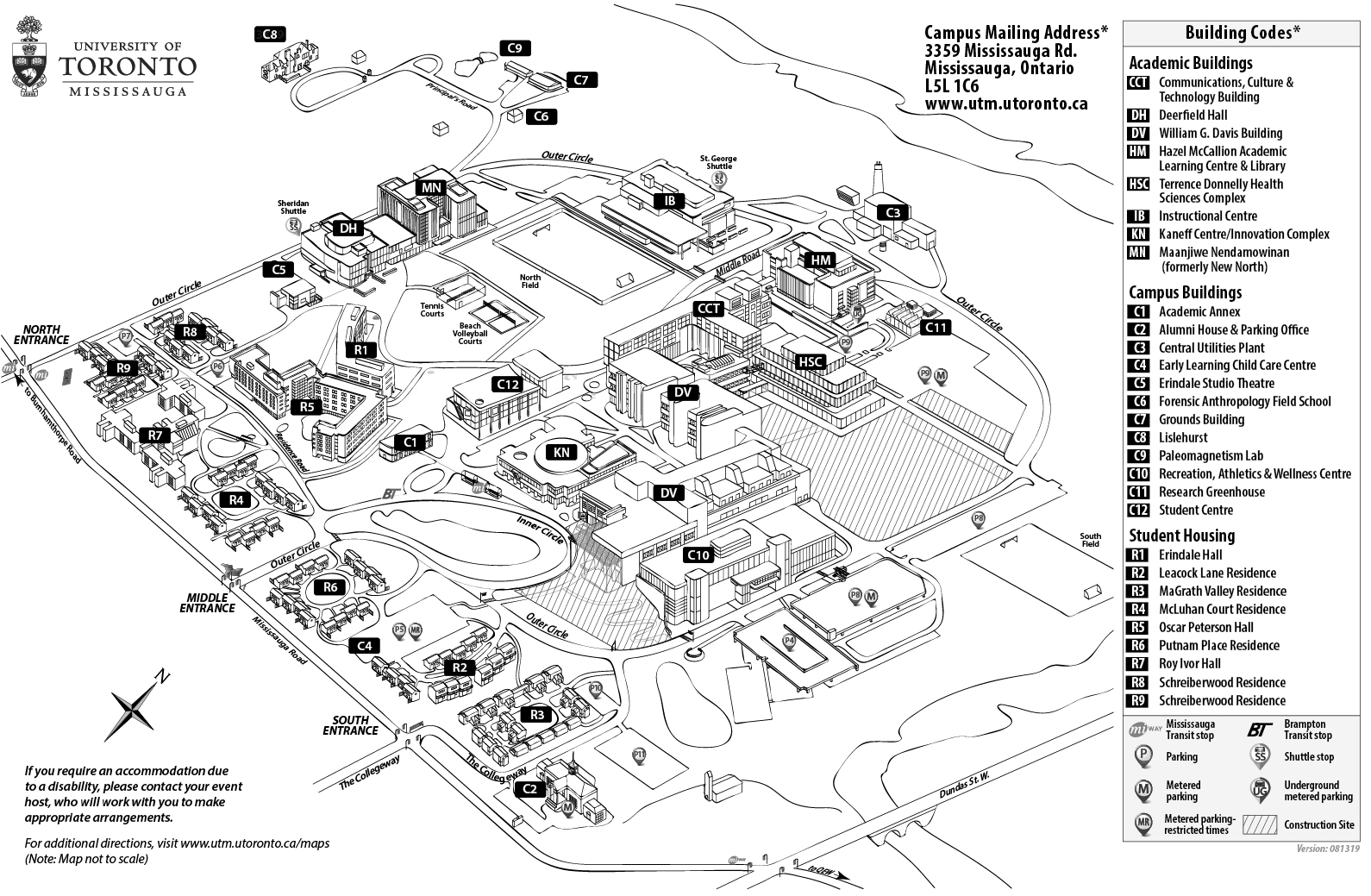 Maps & Directions | University of Toronto Mississauga Ib Black And White Map Of Usa on black and white map of asia, latitude and longitude of usa, black and white portraits of women,