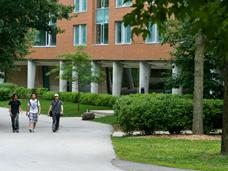 Image of pathway by Erindale Hall residence