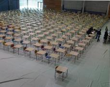 Image of exam setup in RAWC gym