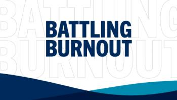 "White image with text reading ""Battling Burnout"""