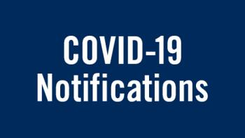 "Blue box with white text ""Covid-19 Notifications"""