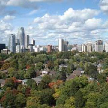 Skyline in Toronto's Davisville neighbourhood