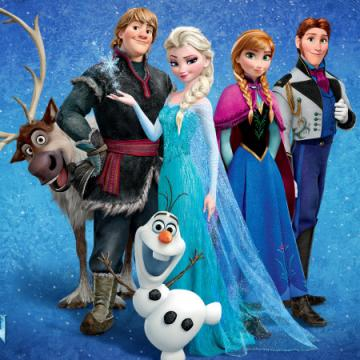 Characters from Disney's movie, Frozen