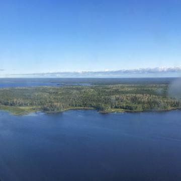 aerial view of First Nations communities in Northern Ontario