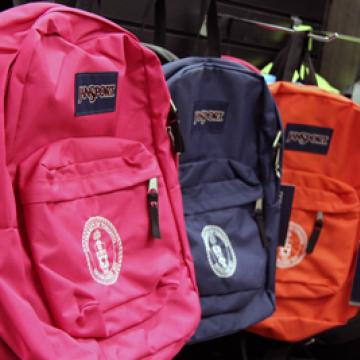 Backpacks with the U of T logo