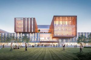 Exterior rendering of North building Phase B