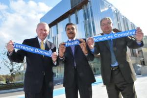 Terrence Donnelly, Deep Saini and Carlo Fidani at the HSC opening