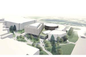 Rendering of Innovation Complex, aerial view