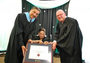 Kathy Singh receives degree