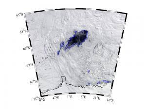 Dark spot reveals hole in sea ice