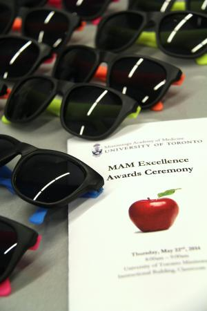 Sunglasses and the paper program for the MAM awards