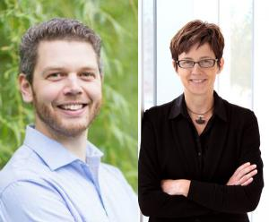 Matthew Adams (left) and Tracey Galloway
