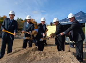 Image of groundbreaking at North Building on Oct. 16, 2012
