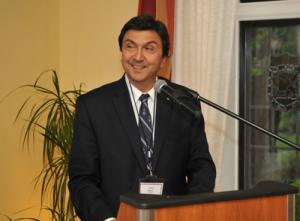 David Naylor speaks at farewell reception