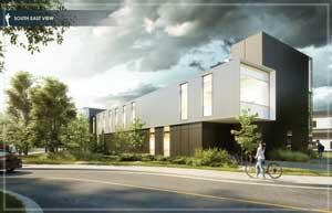Architectural drawing of new Annex building