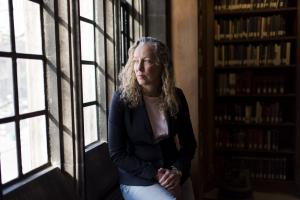 Rebecca Wittmann, UTM's chair of Historical Studies, poses for a portrait at Emmanuel College Library on the University of Toronto Campus in Toronto on Friday January 25, 2019