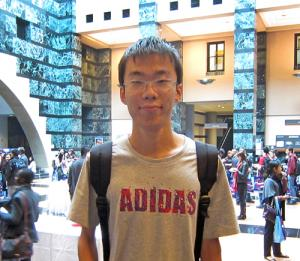 Rikon Yu, new computer science student from China
