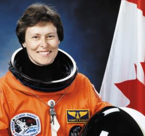 Roberta Bondar in spacesuit
