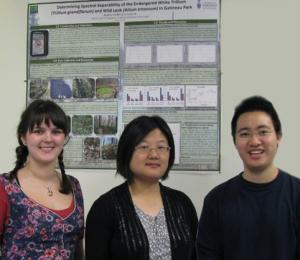Professor Yuhong He with students Nadine Nesbitt and Alexander Tong