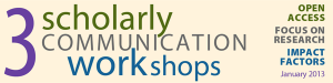 Scholarly Communications Workshop banner