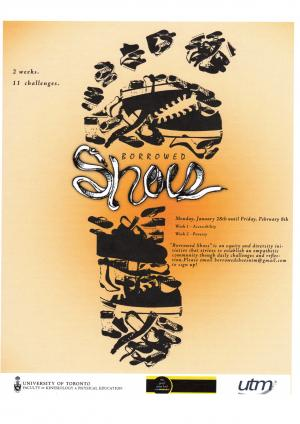 Event poster for Borrowed Shoes