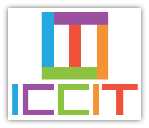 Multicoloured ICCIT wrriten out, and superimposed as a box