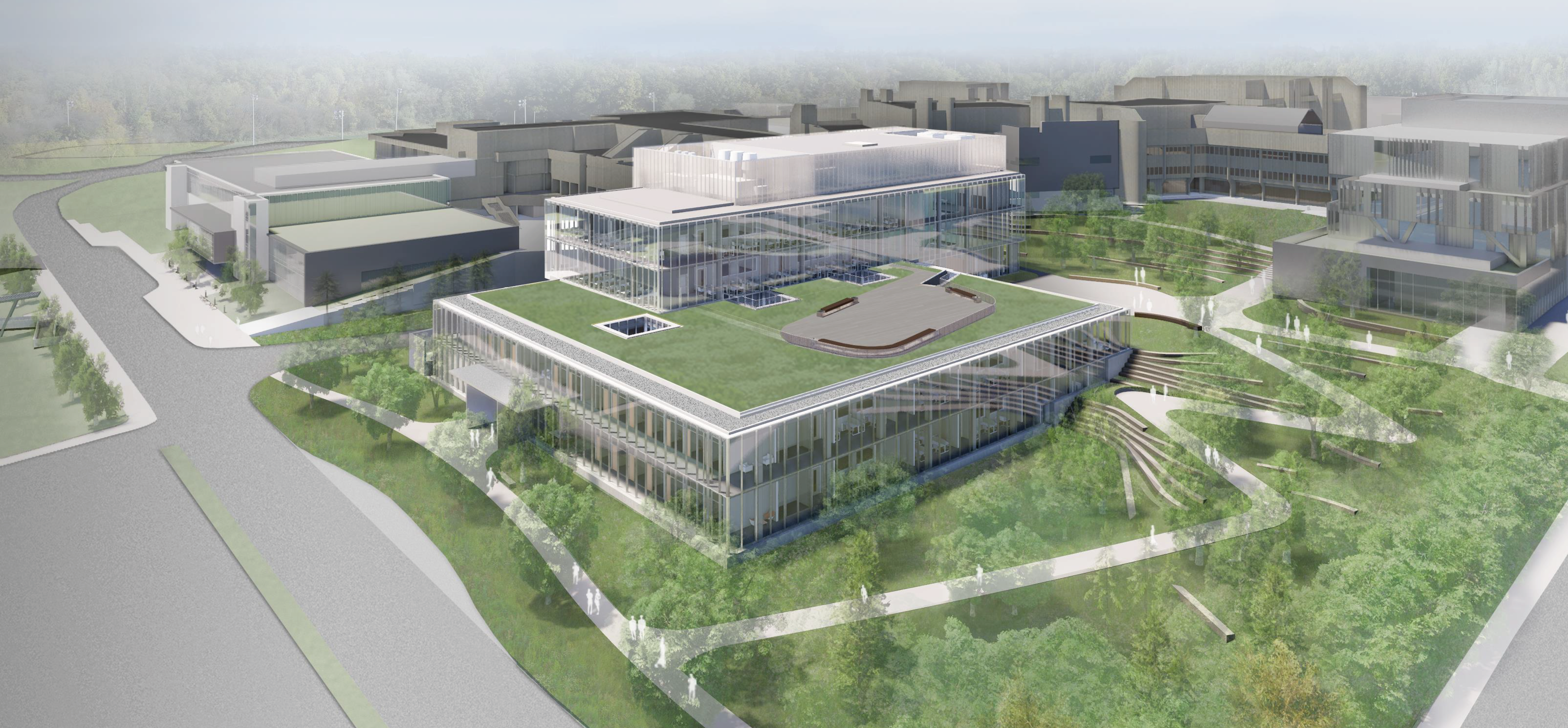 Architectural rendering of the new science building under construction at UTM