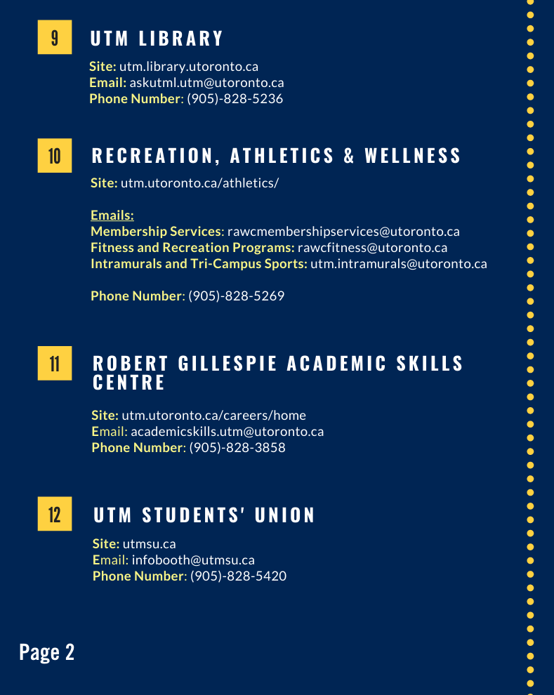 Campus Service Guide Page 2