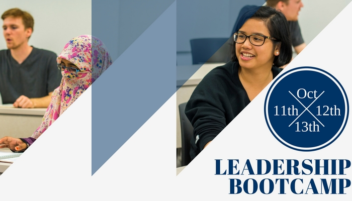Leadership bootcamp - October 11th, 12th, and 13th