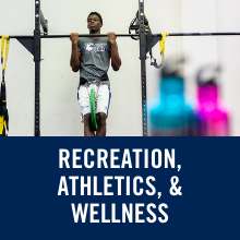 text reads recreation, athletics and wellness
