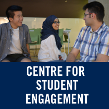 text reads centre for student engagement